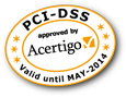 PCI-DSS approved by Acertigo
